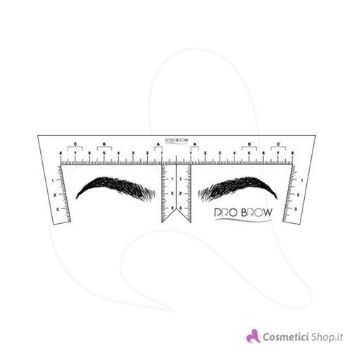 Immagine di Righello adesivo per disegno sopracciglia Pro Brow
