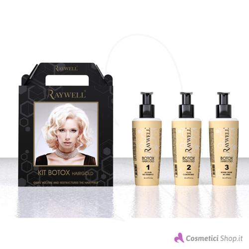 Immagine di Kit ristrutturante capelli Botox Hair Gold Raywell