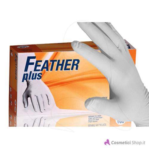 Immagine di Guanti monouso in lattice Feather Plus