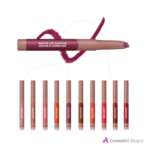 Immagine di Rossetto opaco Infaillible very matte lip crayon L'Oréal Paris