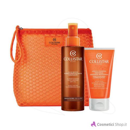 Immagine di Pochette con olio superabbronzante e doccia-shampoo doposole Collistar