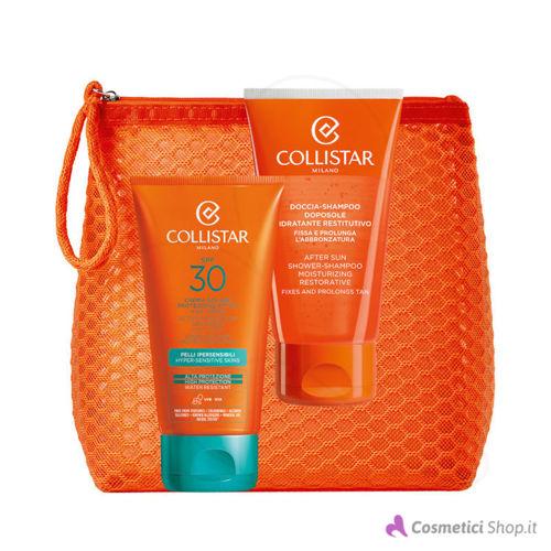 Immagine di Pochette con crema solare SPF 30 e doccia-shampoo doposole Collistar